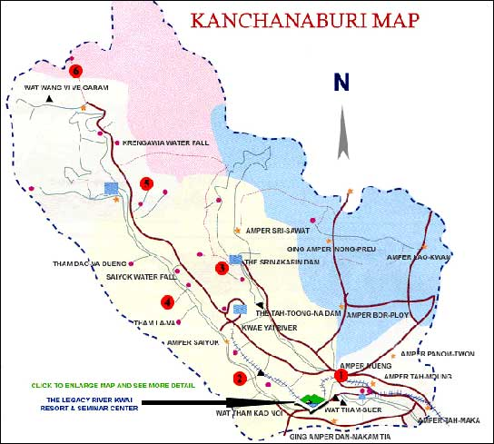 Kanchanaburi Thailand Map.The Legacy River Kwai Resort And Hotel Kanchanaburi Hotels